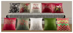 Painted Christmas pillows   Anno Sims Sophisim - 50's Painting