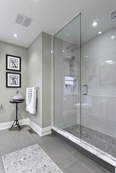 Paint color, Shower Doors, base board without crown moulding / Best inspire ideas to remodel your bathroom shower (23)
