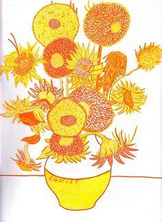 les tournesols de Van Gogh revisités version 2