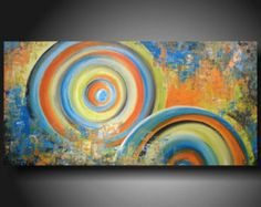 abstract painting on Etsy, a global handmade and vintage marketplace.