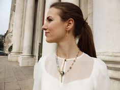 EMCL-20155 2way necklace with Japanese Kimono fabric and