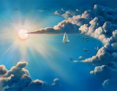 The Unforgettable Surreal Art of Vladimir Kush - Sailing in the Clouds