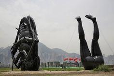 sculpture in Hong Kong