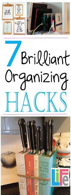 There are lots of hacks out there, here are 7 brilliant organizing hacks, none of which will cost you ANYTHING!
