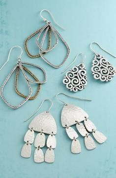 Gorgeous cutout leaf dangle earrings multiple colours