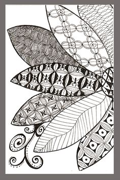 doodling, zentangle inspired; Great site for patterns;