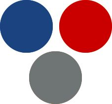 Royal Blue and Red Light Summer Color Palette