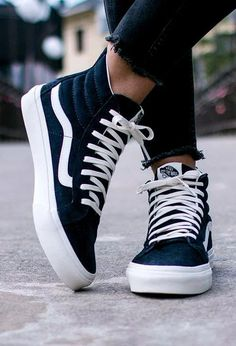 b1095985615b vans  Blue suede shoes. The Scotchgard Sk8-Hi. Black High Top ...