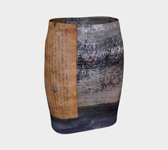 """Fitted+Skirt+""""Ancient+text+fitted+skirt""""+by+Paperwerks+--+Kim+Printz"""