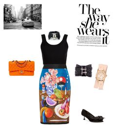 Untitled #31 by palak-obhan on Polyvore featuring polyvore, fashion, style, Calvin Klein Collection, Prada, Miu Miu, Chanel, Michele and clothing