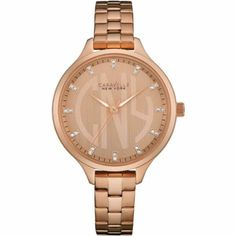 7133609729ac1 Caravelle 44L207 Ladies Round Slim Rose Gold Tone Rose Dial Watch RRP£99.00   Wristwatches