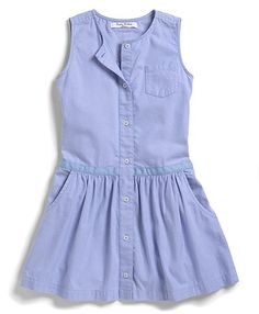 Brooks Brothers girls washed oxford dress