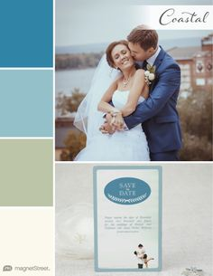 Monaco Blue, Rain, Sage Green, and Ivory Fall Wedding Color Palette | Wedding Color Trends | MagnetStreet Weddings