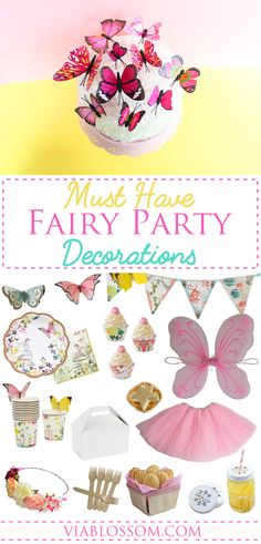 You will die over our Must have Fairy Party Decorations for a Magical girl birthday party! All your Fairy Party Ideas in one place! Fairy Birthday Party, First Birthday Parties, Girl Birthday, First Birthdays, Girl Parties, Birthday Ideas, Magical Girl, Party Supplies, Decorations