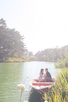 Golden Gate Park Row Boat Engagement Session