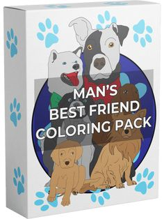 Man's Best Friend Coloring Pack - unique dog drawings and backgrounds Mans Best Friend, Best Friends, Unique Coloring Pages, Dog Drawings, Learn To Count, Make Easy Money, Puzzle Books, Free Dogs, Color Activities