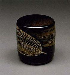 URUSHI Yoshikuni Taguchi 田口喜国 熊笹蒔絵棗(1998 - 遺作)