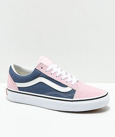 Vans Old Skool Indigo   Chalk Pink Skate Shoes 61f19b5f9