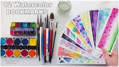 DIY: 12 Easy Watercolor Bookmarks Ideas for Beginners ♡ Maremi's Small Art ♡ - YouTube