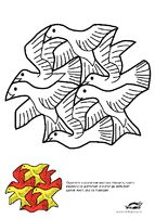 1000 images about escher on pinterest coloring pages for Mc escher tessellations coloring pages