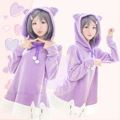 [The Hentai Prince and the Stony Cat] Tsukiko Purple Fleece Hoodie Jumper Dress SP141500 #spreepicky #anime