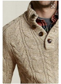 Stitch Fix for Men - Chunky Knit Sweater, layered for fall More