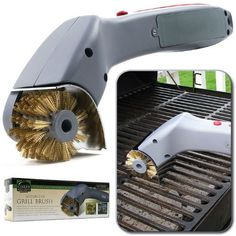 Chef BuddyT Cordless Motorized Outdoor Grill Cleaning Brush - Home and Garden Outdoor Living by AWM. $28.09. This Chef BuddyT Cordless Motorized Outdoor Grill Cleaning Brush is the fastest and easiest way to clean your grill. You will never have to clean your grill one stroke at a time with this brush, just push the button and heavy duty rotating brass bristles quickly polish away your normal cookout residue. For extra-tough buildups, the motorized brush comes with a built in...