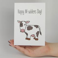 Mothers Day Drawings Discover Happy M-udders Day Funny Mothers Day Greeting Card Happy M-udders Day Funny Mothers Day Greeting Card Mothers Day Puns, Mothers Day Drawings, Happy Mothers Day, Funny Fathers Day Card, Birthday Cards For Mom, Mother Birthday, Birthday Card Puns, Birthday Gifts, Diy Gifts For Mom