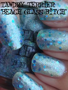 "@TawdryTerrier ""Beach Glass Bitch"" in the shade - 1 bottle available at https://www.etsy.com/shop/TawdryTerrier #nailpolish #indienailpolish #tawdryterrier"