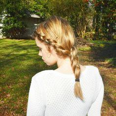 Medium length hair braid