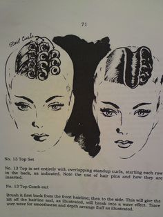 roller set hair styles vintage hair how to on pin curls marcel waves 1013 | 6968b50028b7b20e2c6150fb37788793