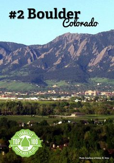Congratulations Boulder, #Colorado! Ranked #2 on Livability.com's Top 100 Best Places to Live 2014