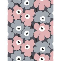 Marimekko Volume 4 Unikko x Floral Wallpaper Roll Color: Sky Blue / Pistachio / Navy Wallpaper Roll, Wall Wallpaper, Pattern Wallpaper, Iphone Wallpaper, Hipster Wallpaper, Wallpaper Online, Marimekko Wallpaper, Marimekko Fabric, Pattern Art