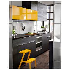 New kitchen accessories modern ideas Ideas Yellow Kitchen Designs, Orange Kitchen Decor, Apple Kitchen Decor, Kitchen Decor Sets, Kitchen Designs Photos, Kitchen Room Design, Kitchen Cabinet Design, Modern Kitchen Design, Interior Design Kitchen