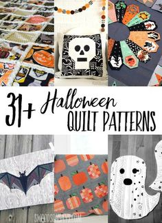 Looking for modern Halloween quilt patterns? Here is a big list of quilt patterns, block tutorials, and free Halloween quilt patterns to browse! #halloween #quilting #sewing Halloween Quilts, Halloween Quilt Patterns, Halloween Sewing Projects, Easy Sewing Projects, Sewing Projects For Beginners, Sewing Hacks, Sewing Tutorials, Sewing Tips, Sewing Ideas