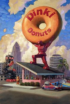 The creations made ??from retro robots and donuts of the artist Eric Joyner…