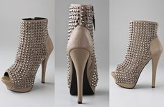 Rock & Republic open toe platform booties with studs
