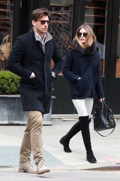 New York - March 23 2014 Johannes Huebl and Olivia Palermo.