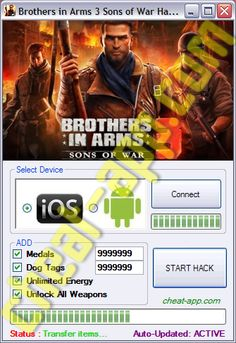 Brothers in Arms 3 Sons of War Hack Telecharger Gratuit    Download: http://cheat-app.com/brothers-arms-3-sons-war-hack/