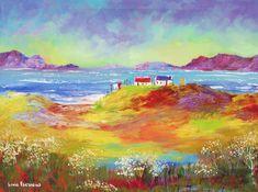"For Sale: Summers day near the beach by Louis Pretorius | $480 | 22""w 16""h | Original Art | https://www.vangoart.co/louis-pretorius/summers-day-near-the-beach @VangoArt"