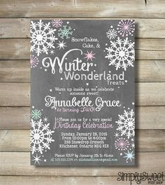 Winter Wonderland Girl Birthday Party by SimplySweetPrintShop