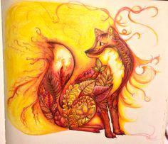 Joanna Basford Fox Enchanted Forest BookEnchanted Coloring BookColoring