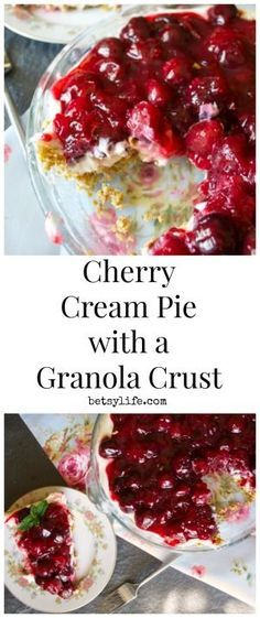 If you make your pie recipes with a graham cracker crust, why not try a granola crust? Cherry Cream Pie with a Granola Crust Recipe.