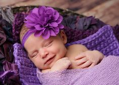 Purple baby headband infant headband newborn by buttercupsbows