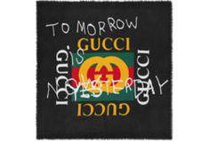 Gucci Coco Capitán logo modal silk shawl
