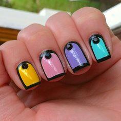Instagram @Kells_Hotz #nails #makeup #fashion #glitter #gold #rhinestone #pastel #black #spring