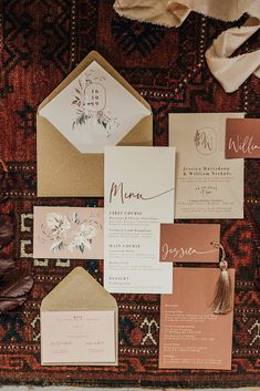 Modern wedding stationery with floral illustrations and clean text. Minimal wedding stationery with simple - Wedding interests Modern Wedding Stationery, Wedding Stationary, Vintage Wedding Invitations, Wedding Invitation Design, Invitation Wording, Minimal Wedding, Fall Wedding Colors, Grafik Design, Wedding Cards