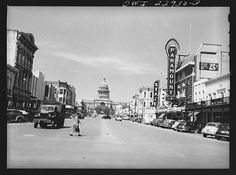 Pictures taken during WWII and the Great Depression. An effort organized by the Library of Congress and Yale. This photo is of Austin. Wow, have times changed. http://photogrammar.yale.edu/