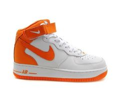 new style 791fd ccfc9 Men Nike Air Force 1 25th High Shoes Orange White  mennikeairforce   nikeairfocemenshoes Air Force