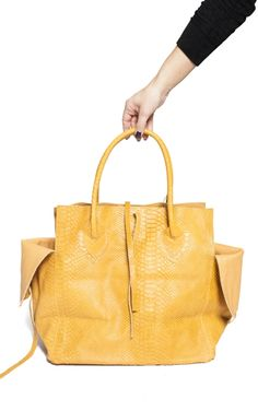 Croco embossed leather Medium bag from Let & Her